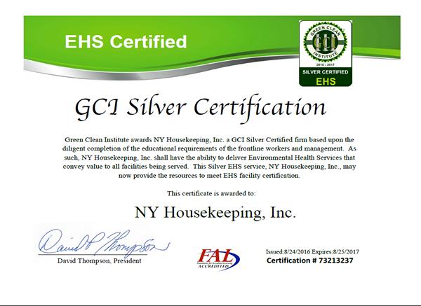 Green Clean certified